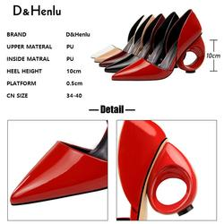 Shoes 2019 New Women High Heel Shoes Vintage Thick Heel Pointed Toe Pumps Comfortable Mid Heel 5cm Shoes Woman 5