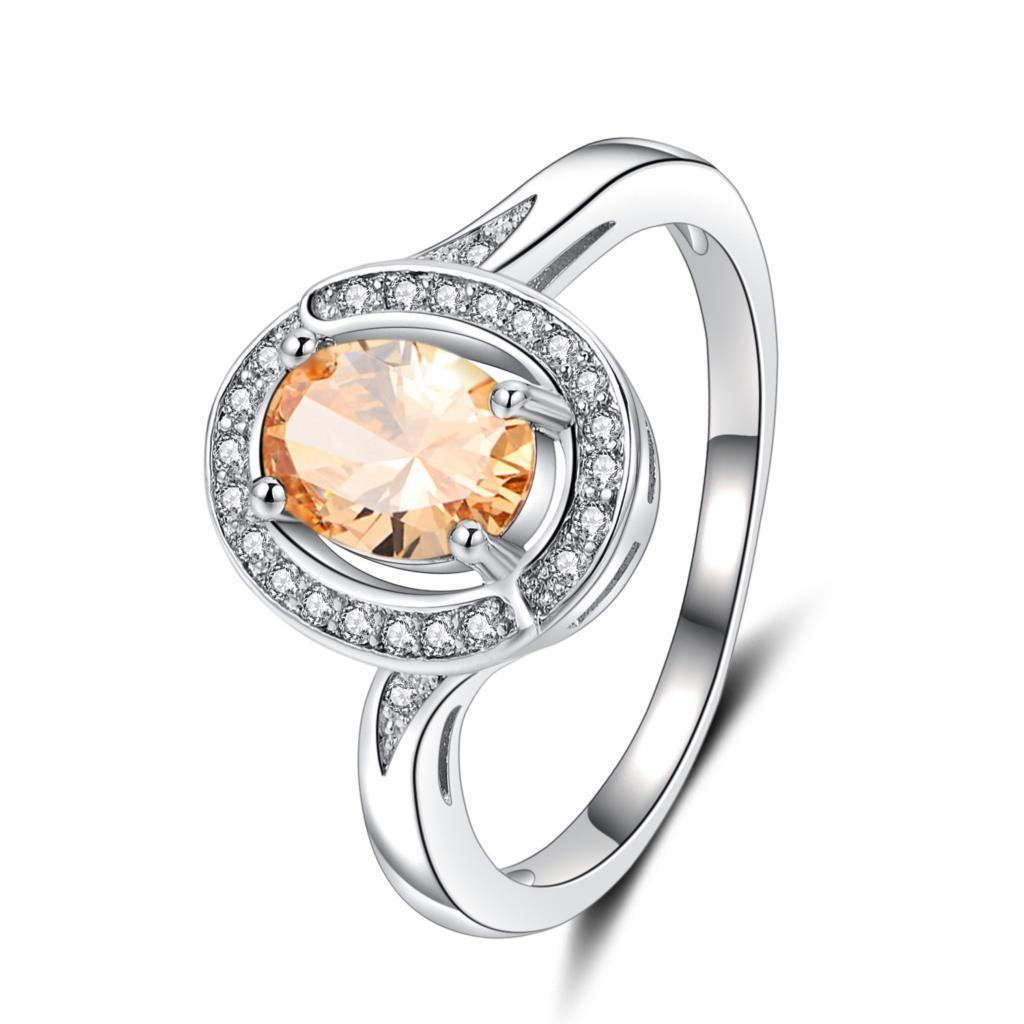 Eheringe Orsa Juwelen Weibliche Engagement Ringe 4 Carat Aaa Gelb Zirkonia Prong Einstellung Solitaire Ring Geeignet Für Verschiedene Gelegenheiten Or56