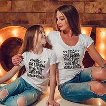 Girls Just Wanna Have Fun Damental Human Rights White Family Matching Tshirts Mama