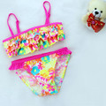 Cotton colorful baby girl swimsuit bikini fashion infant bathing suits swimwear for babies 9-24M baby girls clothing kp-16057