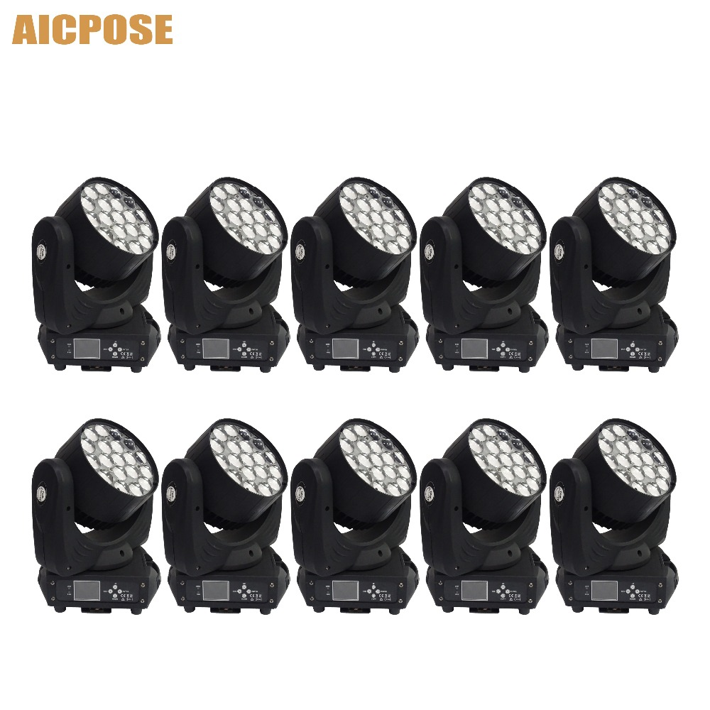 10pcs/lots 19x15w Led RGBW 4in1 Zoom Light Moving Head Light  With Circle Control Function Party Wedding Show Stage Light10pcs/lots 19x15w Led RGBW 4in1 Zoom Light Moving Head Light  With Circle Control Function Party Wedding Show Stage Light