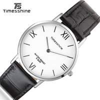 Timesshine Wristwatch Women Fashion Female Quartz Watches 5ATM Swimming Leather Watches Silver Rose Gold Ladies Watch