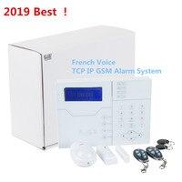 2019 лучшая сигнализация французский голос TCP IP GSM сигнализация умный дом Охранная сигнализация с 8 проводной зоны и 32 Беспроводная Зона сигна