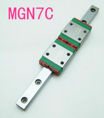 Hotsale de hiwin bloc portant MGN7 rail 500mm + 2 pc portant MGN7C