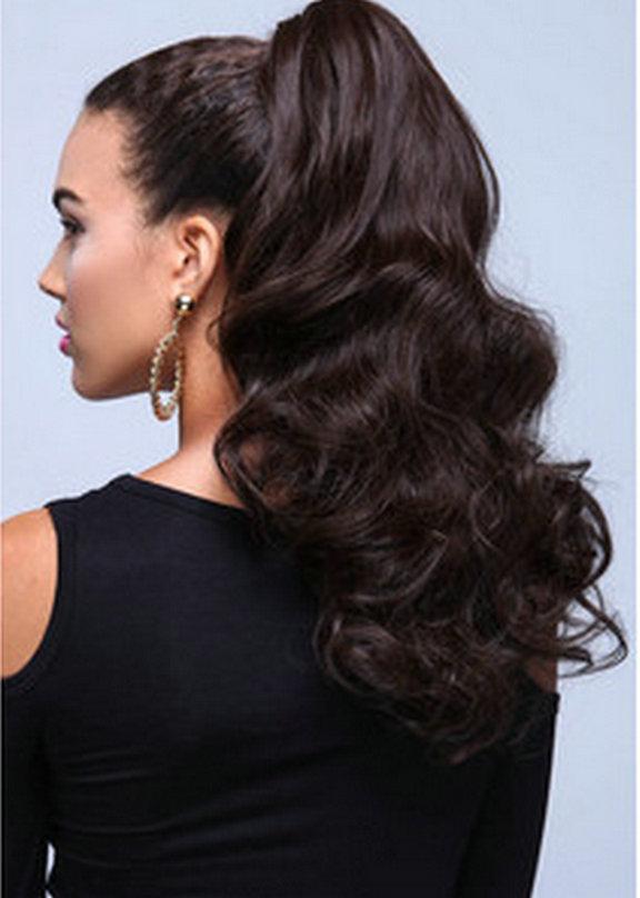 Astounding Online Buy Wholesale Human Hair Wet Wavy Ponytail From China Human Short Hairstyles Gunalazisus