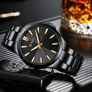 Image 5 - CURREN Watches Men Fashion Watch 2019 Luxury Stainless Steel Band Reloj Wristwatch Business Clock Waterproof  Relogio Masculino