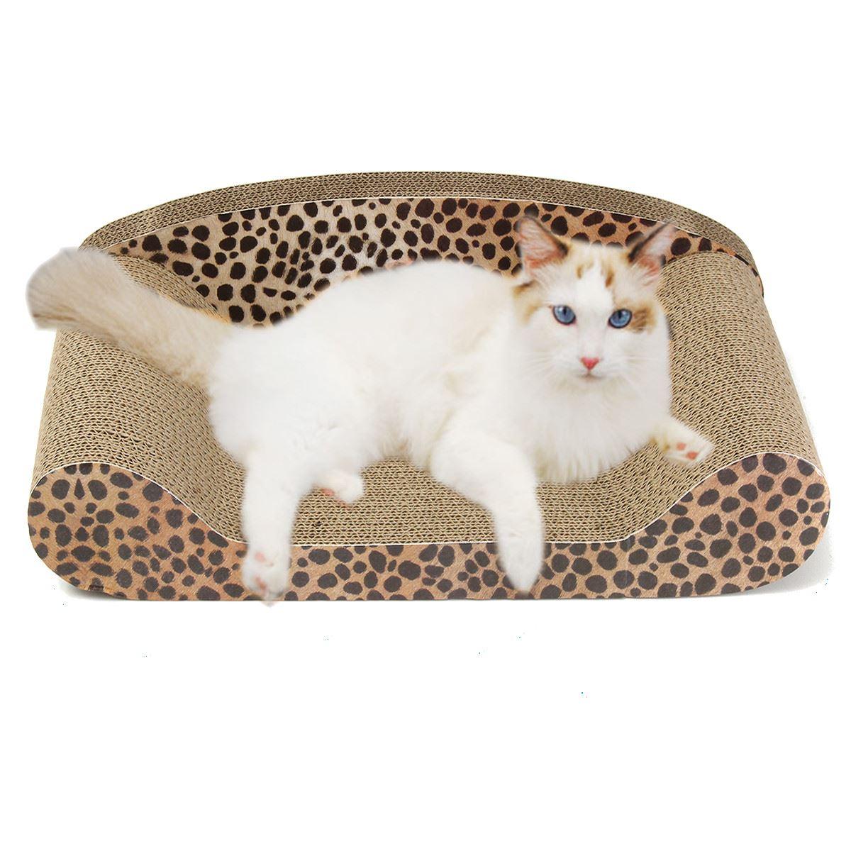 Corrugated cardboard 50cm cat kitten scratching bed pad sofa mat scratcher board cat training - Cat bed scratcher ...