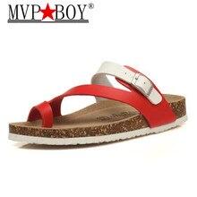 MVP BOY 19 style Fashion Cork Slipper Women Summer Mixed Color Casual Beach Slip on Flip Flops Slides Shoes Plus Size 35-44