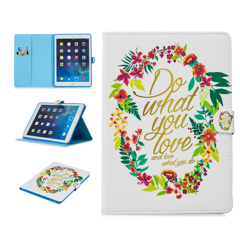 Fashion Cute Animal Flip Book Tablet Case for iPad Air 1 2013 9.7 Butterfly Cat Do What You Love Wallet Holster Coque Fundas image