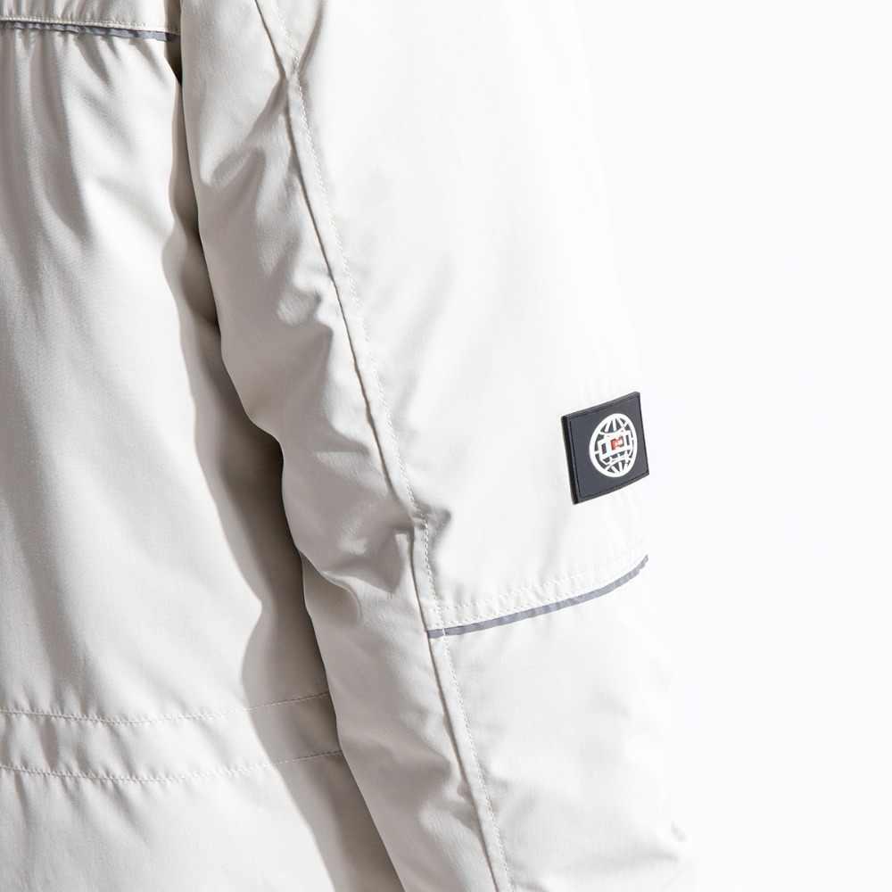 Мужское зимнее пальто SIMWOOD, приталенная длинная куртка с карманами, парка с капюшоном, 2019, повседневная верхняя одежда, 180