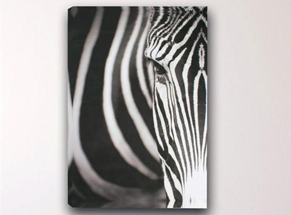 New 1Pc Canvas Painting Wall Art No Frame Zebra Stripes
