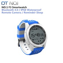 NO 1 F3 Sports Smartwatch Bluetooth IP68 Professional Waterproof Swimming Watch Pedometer Outdoor Wristwatch for Android