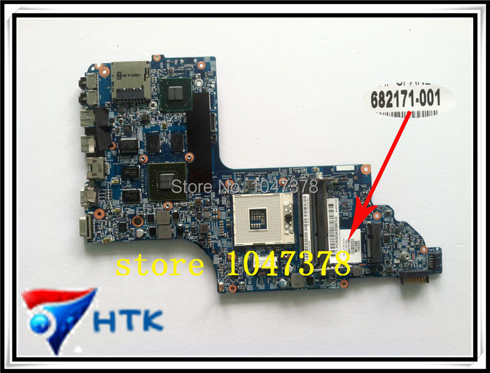 Wholesale  630M/2GB DDR3 Laptop motherboard For HP DV6-7000 48.4ST10.021 682171-001 100% Work Perfect  wholesale laptop motherboard 682171 001 for hp envy dv6 dv6 7000 630m 2g notebook pc systemboard 682171 501 90 days warranty