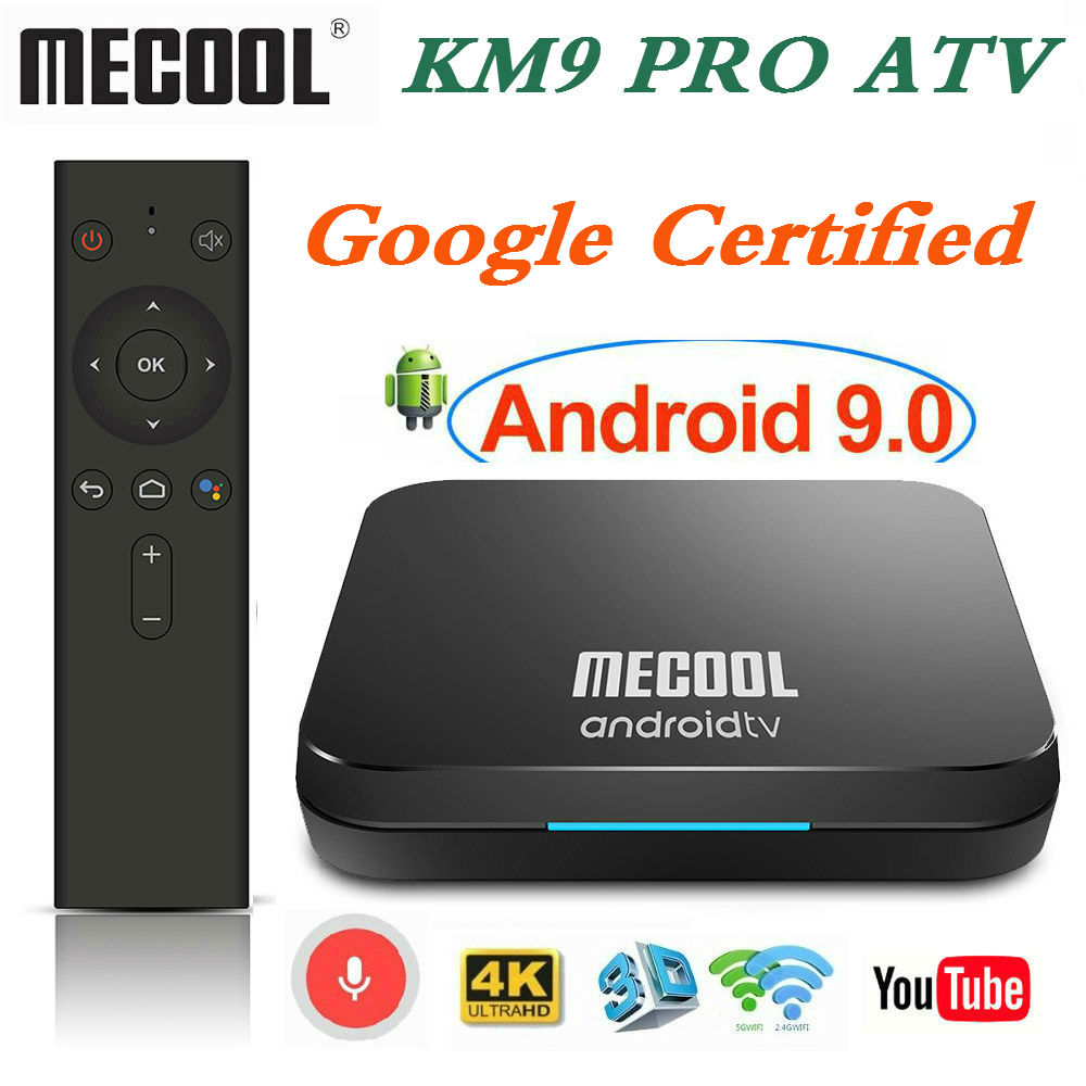 4GB RAM 32GB ROM Mecool KM9 PRO TV BOX Android 9.0 Google Certified S905X2 4K Media Player 2.4/5G WiFi KM3 ATV Smart Set Top Box