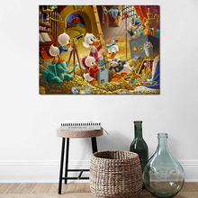 Scrooge McDuck An Embarrassment Of Riches Canvas Posters Prints Wall Art Painting Oil Decorative Picture Modern Home Decoration