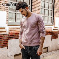 SIMWOOD 2018 New Spring Men Hoodies Casual Thick Long Sleeve Brand Sweatshirts Pullover O Neck Man