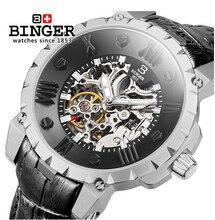 Швейцария ВЫПИВКА часы мужчины luxury brand механическая рука ветер полный нержавеющей стали Наручные Часы водонепроницаемость B-5032-2