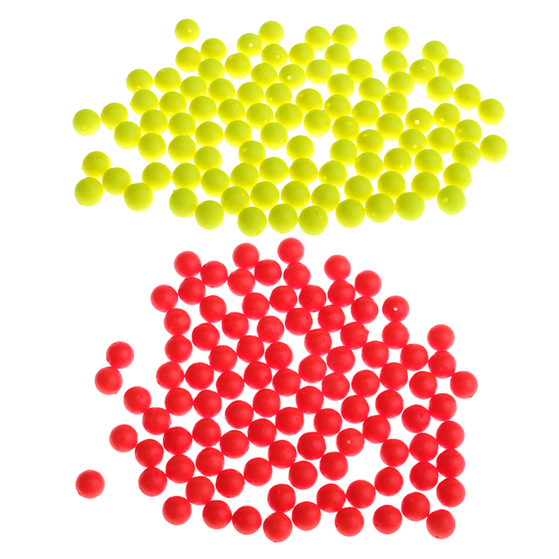 100 x Fishing Floating Ball Bobbers Eva Foam Drift Indicator Fish Accessories
