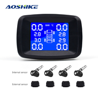 AOSHIKE Car TPMS External Or Internal Tire Pressure Monitoring System Cigarette Lighter Digital Liquid Display Tire Pressure