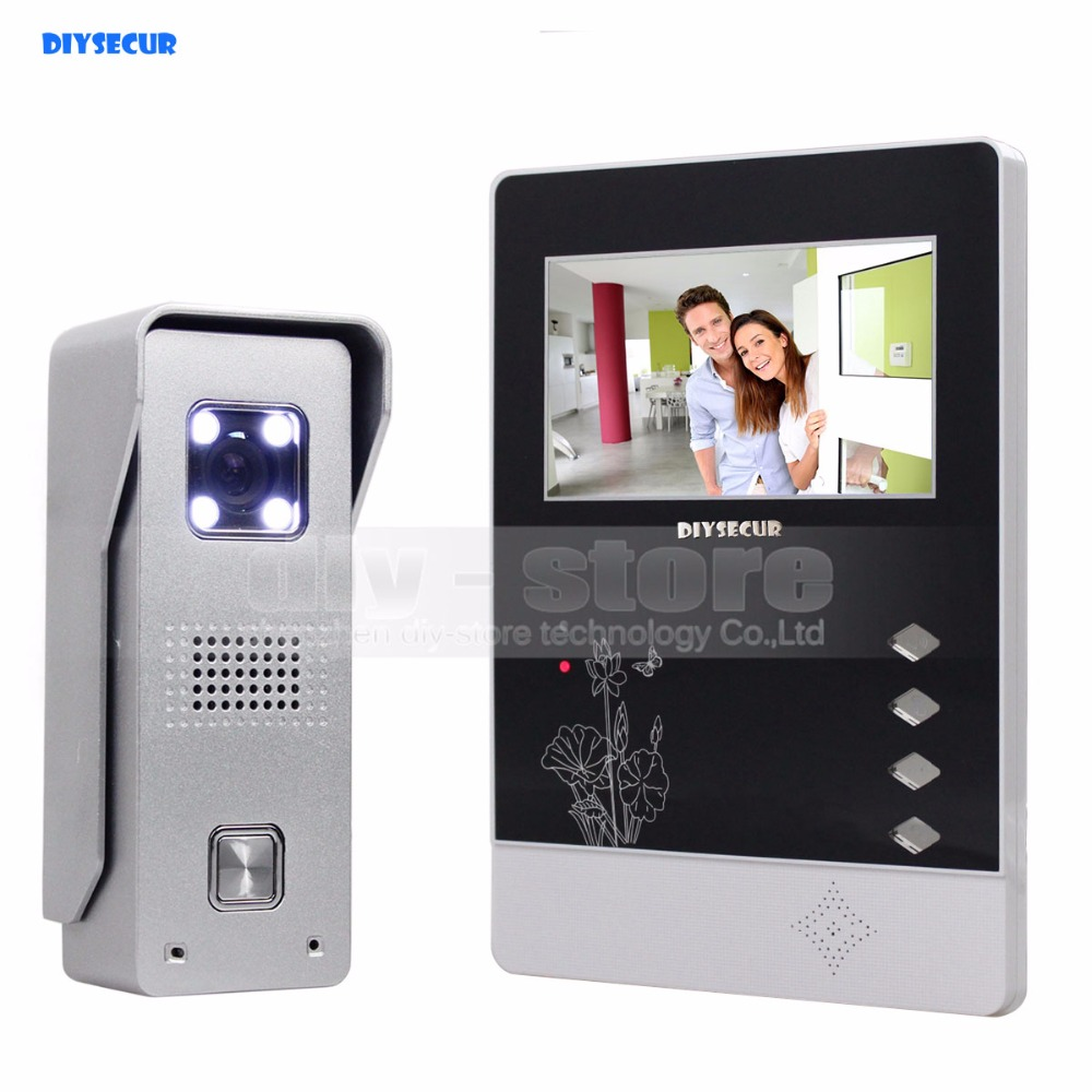 DIYSECUR 4.3 inch TFT Color LCD Display Aluminum Alloy Camera Video Door Phone Intercom Doorbell LED Color Night Vision стоимость