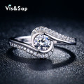 White gold plated Rings for women vintage bague engagement wedding rings fashion jewelry Wholesale brand design ring VSR029