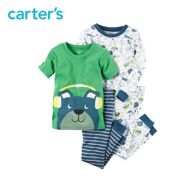 Carter's 4pcs baby children kids Snug Fit Cotton PJs 321G245,sold by Carter's China official store carter s 3pcs baby children kids 3 piece babysoft footed pant set 126g315 sold by carter s china official store