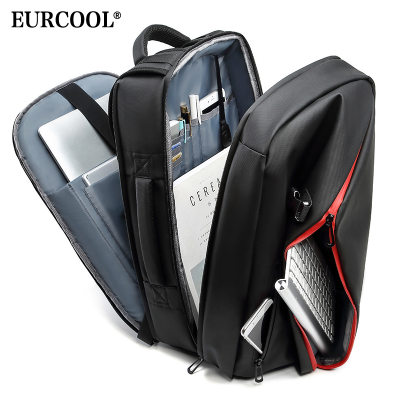 EURCOOL Fashion Backpack Men for Teenage 15.6 Laptop Bags Large Capacity Mochila Water Repellent Travel Backpacks n0002EURCOOL Fashion Backpack Men for Teenage 15.6 Laptop Bags Large Capacity Mochila Water Repellent Travel Backpacks n0002