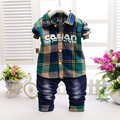 2017 new Spring and summer Boys and girls Shirt and pants suit 2 pieces Children's suits Kids Set Cotton products