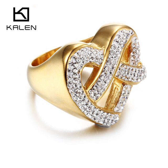Aliexpress Buy Kalen New Fashion Dubai Gold Color Ring