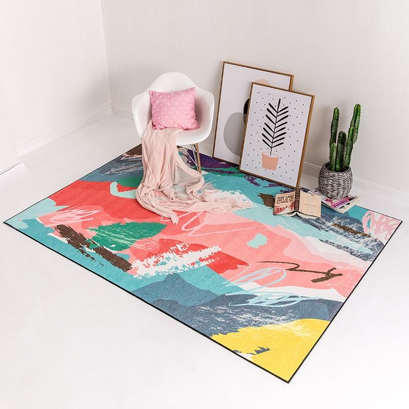 WINLIFE Modern Brisk Colorful Carpet Large Area Rug Anti Skid Mat ...