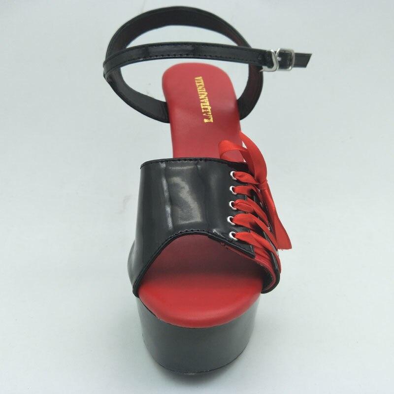 Zapatos Mujeres rojo Verano 15 Bombas Nueva Discoteca Sexy Correa Gruesos  Altos De Tacones rosado Partido Laijianjinxia Negro Impermeables Cm ... 99fd27550a66