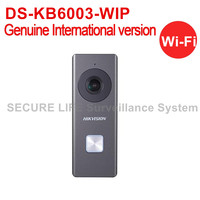 Free Shipping HIKVISION DS KB6003 WIP English Version Wi Fi Video Intercom Doorbell With Mic Loudspeaker