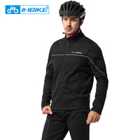 INBIKE Winter Autumn Cycling Clothes Riding Suits Bicycle Men Long Sleeves Jacket Thickening Windproof Mountain Bike Equipment