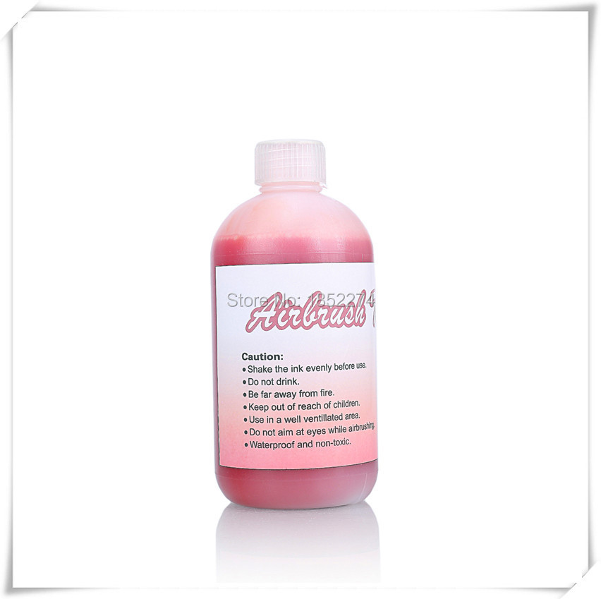 500ml Bottle Airbrush Tattoo Beauty Makeup Finalized Ink For Temporary Body Art Paint Lasting Long Time