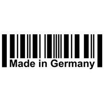 15cm*5.2cm MADE IN GERMANY Bar Code Originality Vinyl Car-styling Decal Car Sticker c1-6618 свитшот print bar made in 1964