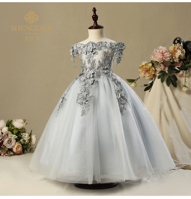 Free ship children's girls grey/pink medieval dress royal princess stage lace renaissance gown medieval cosplay venice cos