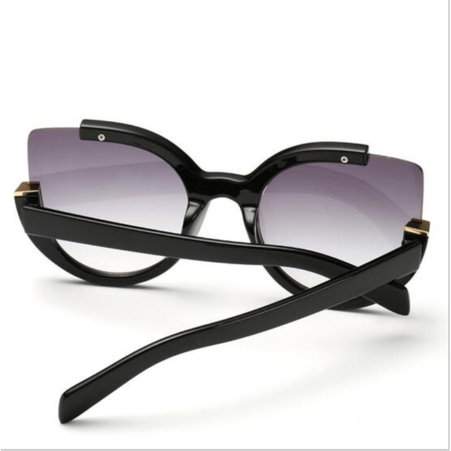 Peekaboo Vintage 2016 new cat eye sunglasses women new 2016 luxury woman sunglasses designer brand cat eye black discount UV400
