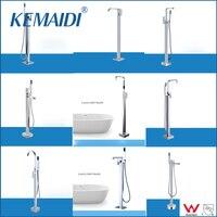 OUBONI New Arrival WELS And CUPC Bathroom Floor Standing Bath Tub Faucet Mixer Set Hand Held