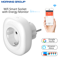 Mini Wifi Energy Monitor Smart Socket EU Power Plug Mobile APP Remote Control Work With Amazon