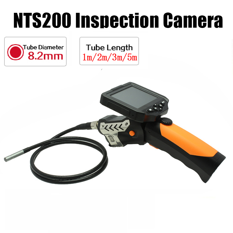 Eyoyo NTS200 3.5 Color LCD Display Monitor Snake Inspection Endoscope 6 LEDS Borescope Tube 8.2mm Camera 360 Degree rotation