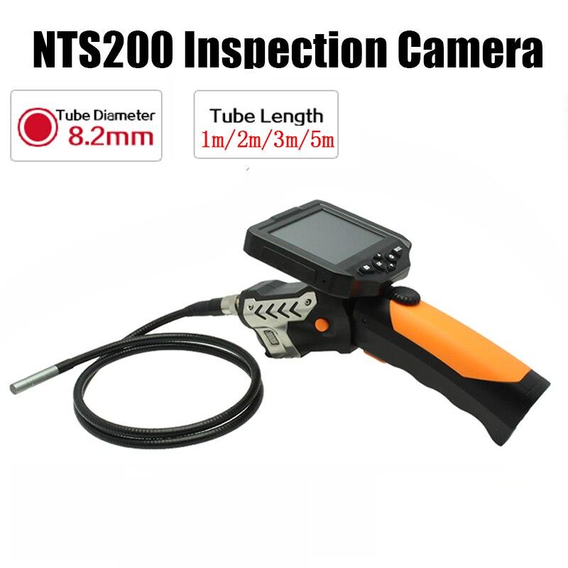 Eyoyo NTS200 3.5 Couleur LCD Affichage Moniteur D'inspection de Serpent Endoscope 6 LED Endoscope Tube 8.2mm Caméra 360 Degrés rotation
