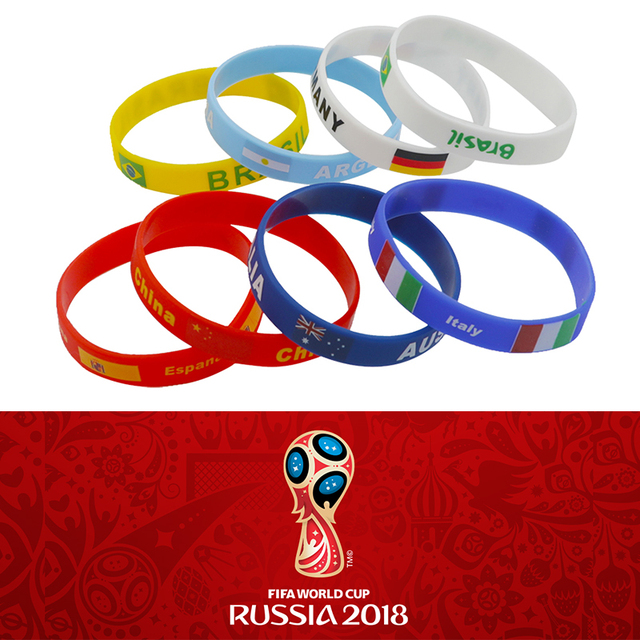 2018 FIFA Russia World Cup Football Silicone Bracelet