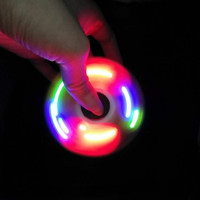 9 Light LED Light Fidget Spinner Desk Anti Stress Finger Spin Spinning Top Sensory Toy Cube