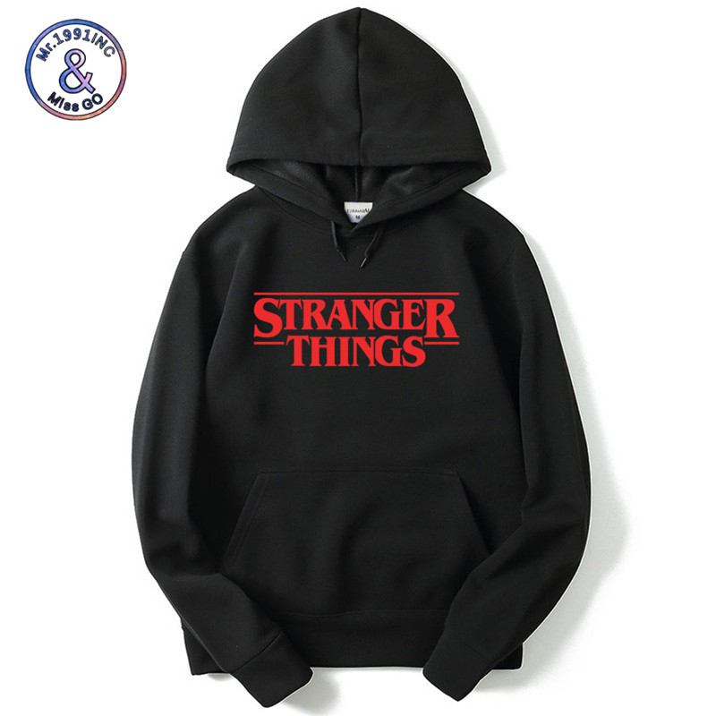 Mr.1991INC 2018 fashion Stranger Things 2 Men/Women Hoodies Sweatshirt Autumn Winter Hip Hop Mens Print Hooded Sweatshirts