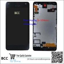 Auf lager!! 100% original lcd display touchscreen digitizer glas mit rahmen für nokia lumia 550 schwarz test ok + track