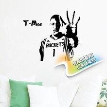 New 2016 basketball Player T-MAC Vinyl Wall sticker Sport Boy Kids Bedroom Mural Art Decal Home Decoration