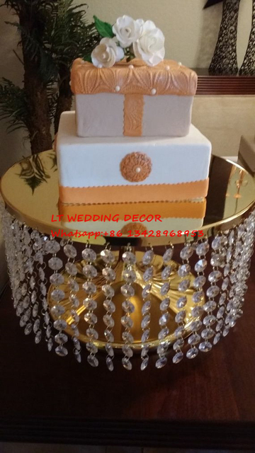 Gold Crystal Wedding Cake Stand Wedding Table Centerpiece