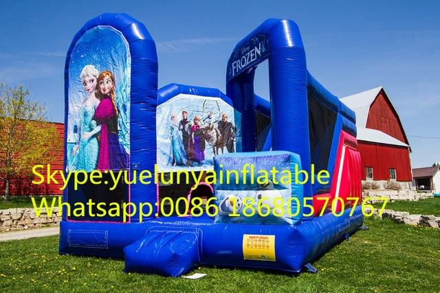2016 venta directa de Fábrica toboganes Inflables, castillo Inflable. Frozen Gorila KYB-176