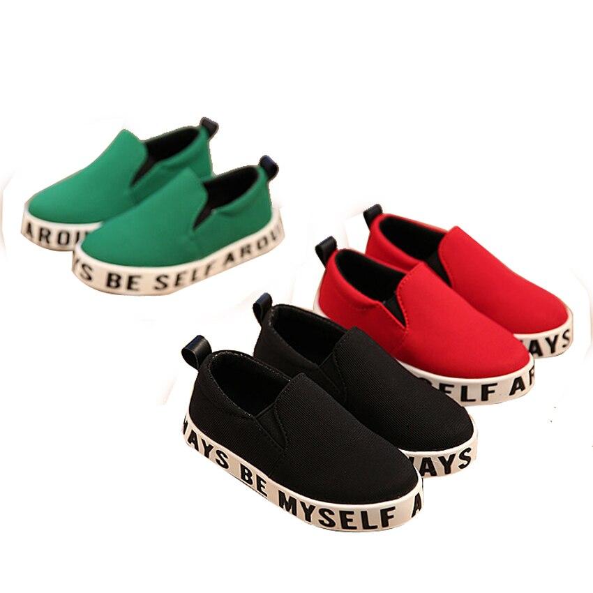 Діти Кросівки Хлопчики Дівчата Взуття 2016 Весна Повсякденні Квартири Листи Дитяче взуття Хлопчики Одяг Діти Холст взуття EUsize26-36  t