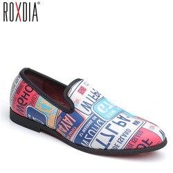 adec77668a903 Marca plus size 39-48 ROXDIA PU couro moda estilo casual homens flats  vestido oxford